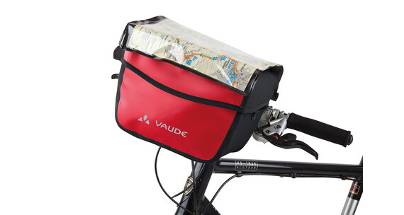 VAUDE Aqua Box Handlebar Bag red/black